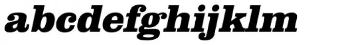 URW Clarendon ExtraBold Oblique Font LOWERCASE