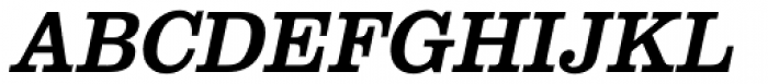 URW Clarendon Narrow Oblique Font UPPERCASE