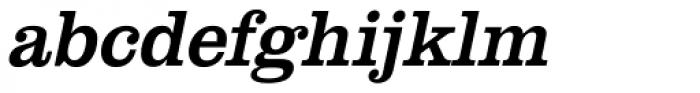 URW Clarendon Narrow Oblique Font LOWERCASE