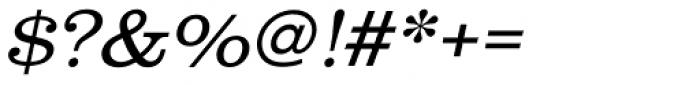 URW Clarendon Wide Light Oblique Font OTHER CHARS