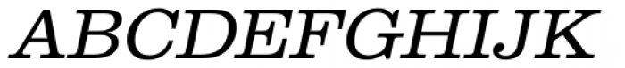 URW Clarendon Wide Light Oblique Font UPPERCASE