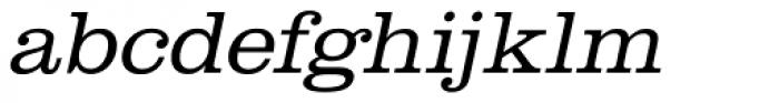 URW Clarendon Wide Light Oblique Font LOWERCASE