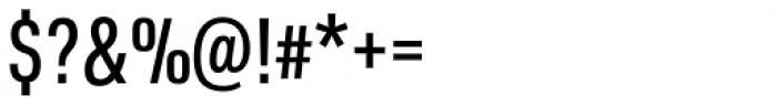 URW DIN Condensed Medium Font OTHER CHARS