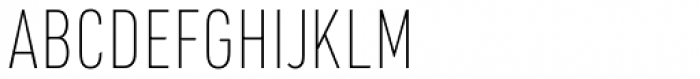 URW DIN Condensed Thin Font UPPERCASE