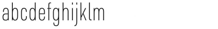 URW DIN Condensed Thin Font LOWERCASE