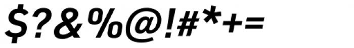 URW DIN Demi Italic Font OTHER CHARS