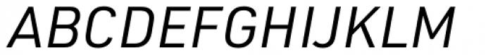 URW DIN Italic Font UPPERCASE