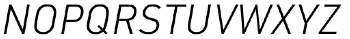 URW DIN Light Italic Font UPPERCASE