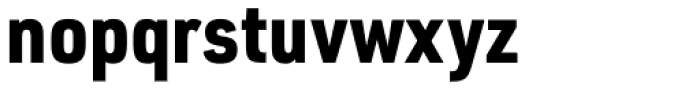 URW DIN Semi Condensed Black Font LOWERCASE