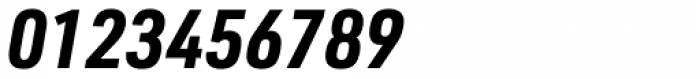 URW DIN Semi Condensed Bold Italic Font OTHER CHARS