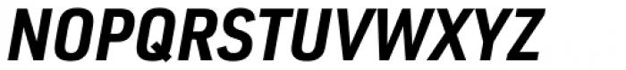 URW DIN Semi Condensed Bold Italic Font UPPERCASE