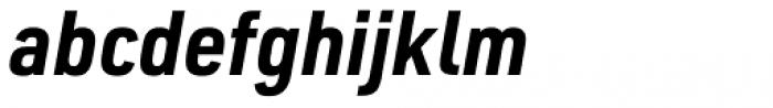 URW DIN Semi Condensed Bold Italic Font LOWERCASE
