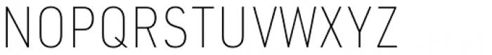 URW DIN Semi Condensed Thin Font UPPERCASE