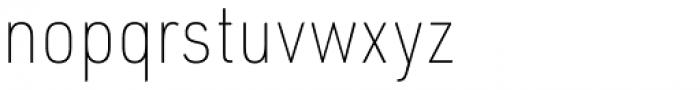 URW DIN Semi Condensed Thin Font LOWERCASE