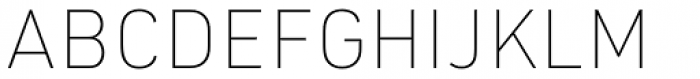 URW DIN Thin Font UPPERCASE