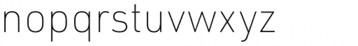URW DIN Thin Font LOWERCASE
