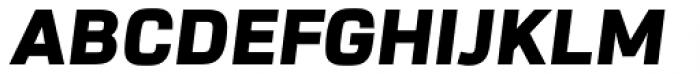 URW Dock Black Italic Font UPPERCASE
