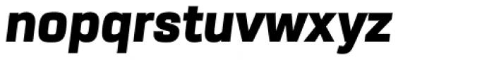 URW Dock Black Italic Font LOWERCASE