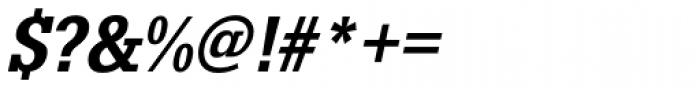 URW Egyptienne ExtraNarrow Medium Oblique Font OTHER CHARS