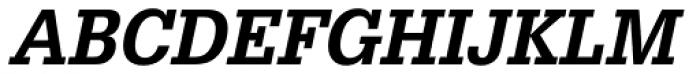 URW Egyptienne ExtraNarrow Medium Oblique Font UPPERCASE