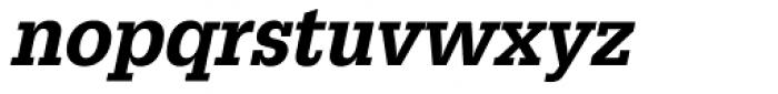URW Egyptienne ExtraNarrow Medium Oblique Font LOWERCASE