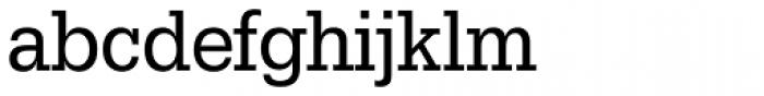 URW Egyptienne ExtraNarrow Regular Font LOWERCASE