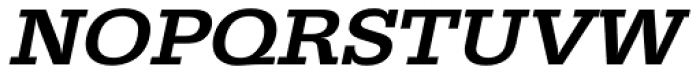URW Egyptienne ExtraWide Medium Oblique Font UPPERCASE