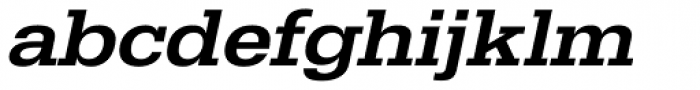 URW Egyptienne ExtraWide Medium Oblique Font LOWERCASE
