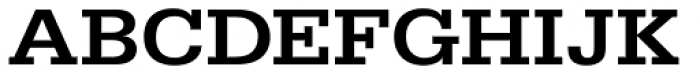 URW Egyptienne ExtraWide Medium Font UPPERCASE