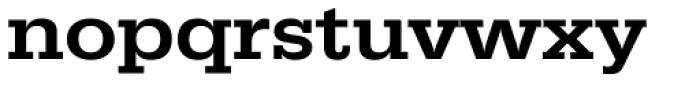 URW Egyptienne ExtraWide Medium Font LOWERCASE