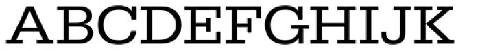 URW Egyptienne ExtraWide Regular Font UPPERCASE