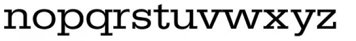 URW Egyptienne ExtraWide Regular Font LOWERCASE