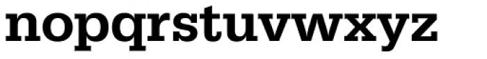 URW Egyptienne Medium Font LOWERCASE