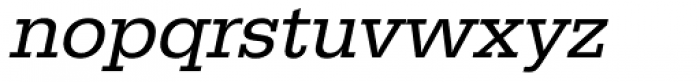 URW Egyptienne Oblique Font LOWERCASE