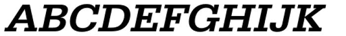 URW Egyptienne Wide Medium Oblique Font UPPERCASE