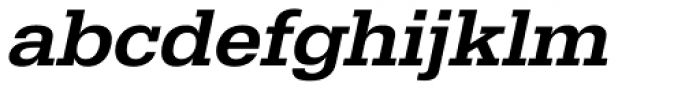 URW Egyptienne Wide Medium Oblique Font LOWERCASE