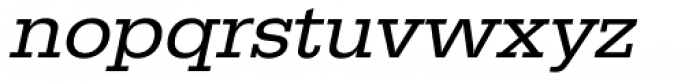 URW Egyptienne Wide Oblique Font LOWERCASE