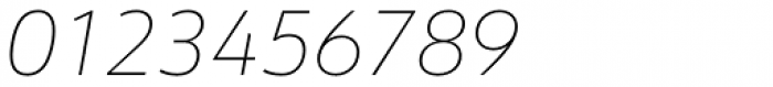 URW Form Thin Italic Font OTHER CHARS