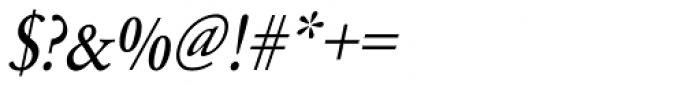 URW Garamond ExtraNarrow Oblique Font OTHER CHARS