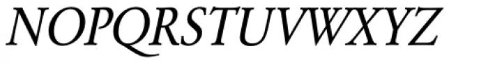 URW Garamond ExtraNarrow Oblique Font UPPERCASE