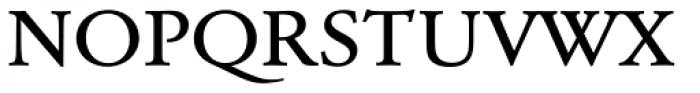URW Garamond ExtraWide Medium Font UPPERCASE