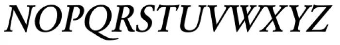 URW Garamond Narrow Medium Oblique Font UPPERCASE