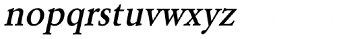 URW Garamond Narrow Medium Oblique Font LOWERCASE
