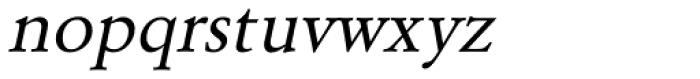 URW Garamond Oblique Font LOWERCASE