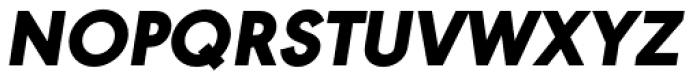 URW Geometric Black Oblique Font UPPERCASE
