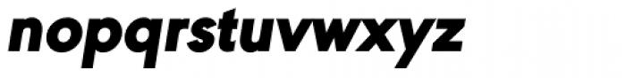 URW Geometric Black Oblique Font LOWERCASE