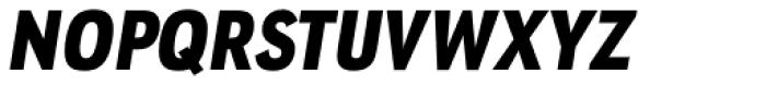 URW Geometric Condensed Black Oblique Font UPPERCASE