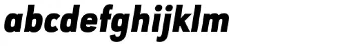 URW Geometric Condensed Black Oblique Font LOWERCASE
