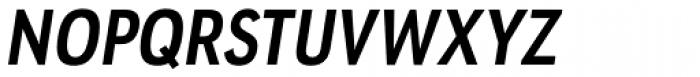 URW Geometric Condensed Bold Oblique Font UPPERCASE