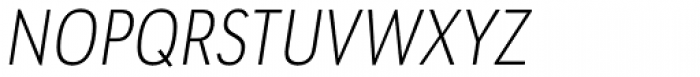 URW Geometric Condensed Extra Light Oblique Font UPPERCASE